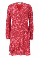 927eef98d881 Modström - Kjole - Gabriella Print Wrap Dress - Micro Flower Red