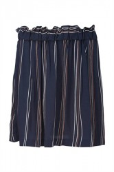 Modström - Nederdel - Grazie Print Skirt - Navy Organic Stripes