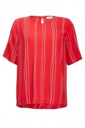 Modström - T-shirt - Grazie Print Top - Red Organic Stripes