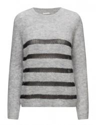 Mohair Knit Top W.Stripes