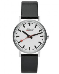 Mondaine New Classic Brushed Black 36mm men One size Sort