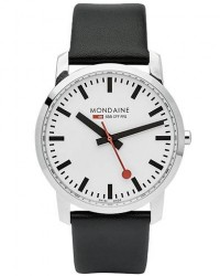 Mondaine Simply Sapphire II White 41mm men One size Sort