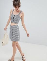 Monki Check Skirt Co-Ord - Multi
