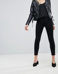 Monki Oki Cropped Skinny High Waisted Jeans - Black