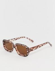 Monki oval shape sunglasses in brown tortoise - Brown