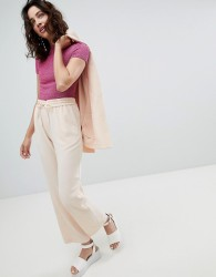 Monki Straight Trousers - Pink