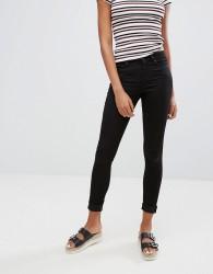 Monki Super Stretch Skinny Jeans In Washed Black - Black