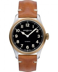 Montblanc 1858 Steel Bronze Automatic 40mm Black Dial men One size Guld,Brun