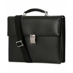 Montblanc Meisterstück Single Gusset Leather Briefcase Black