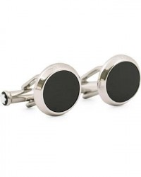 Montblanc Meisterstück Steel Cufflinks Black Onyx men One size Sølv,Sort