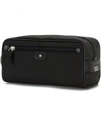 Montblanc Sartorial Jet Leather Wash Bag Black men One size Sort