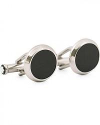 Montblanc Steel Cufflinks Black Onyx men One size Sølv,Sort