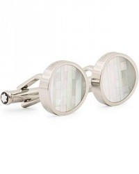 Montblanc Steel Cufflinks Mother of Pearl