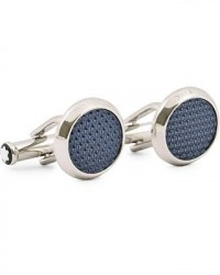 Montblanc Steel Meisterstück Cuff Links Blue men One size Sølv,Blå