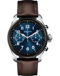 Montblanc Summit2 42mm Smartwatch Steel Bicolor / Brown Calf men One size