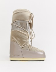 Moon Boot Glance Icon Snowboots in Platinum - Gold