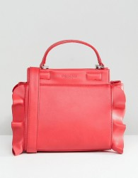 Morgan Bag With Frill Side Detail - Red