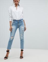Morgan Embellished Distressed Skinny Jean - Blue