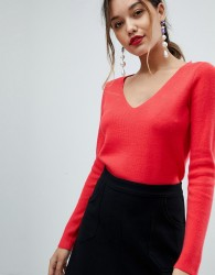 Morgan Jumper With Contrast Cross Back - Red