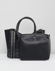 Morgan Studded Bag With Shoulder Strap - Black