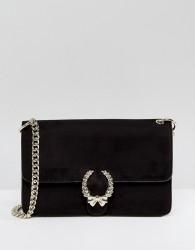 Morgan Tie Detail Chain Strap Bag - Black