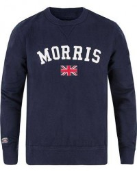 Morris Brown Sweater Navy men L Blå