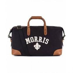 Morris Canvas Weekendbag Navy/Cognac