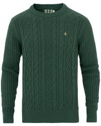 Morris Doyle Cable Crew Neck Green men S