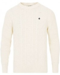 Morris Doyle Cable Crew Neck White men M