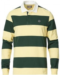 Morris Grant Striped Rugger Yellow/Green men XXL Gul