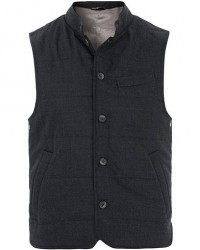 Morris Heritage Bellano Padded Wool Waistcoat Grey men 48