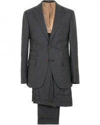 Morris Heritage Frank Light Flannel Suit Grey