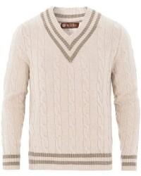 Morris Heritage Heritage Cricket Cashmere Sweater Off White men S