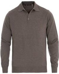 Morris Heritage Long Sleeve Polo Shirt Brown men XL Brun