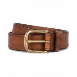 Morris Leather 3,5 cm Jeans Belt Brown