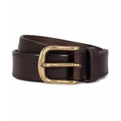 Morris Leather 3,5 cm Jeans Belt Dark Brown