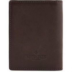 Morris Leather Card Wallet Dark Brown