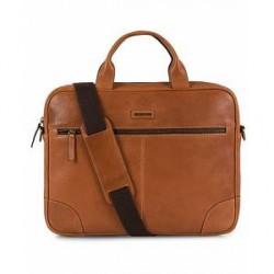 Morris Leather Computer Bag Cognac