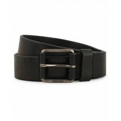 Morris Leather Jeans 3,5 cm Belt Black
