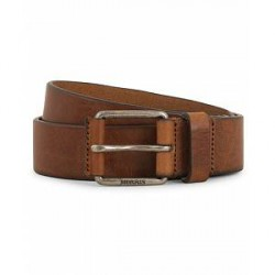 Morris Leather Jeans 3,5 cm Belt Brown