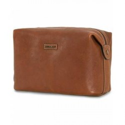 Morris Leather Washbag Cognac