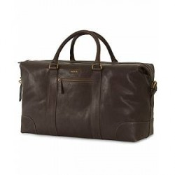 Morris Leather Weekendbag Dark Brown