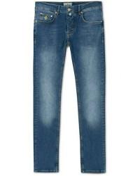 Morris Steeve Satin Stretch Jeans Semi Dark Wash men W36L34 Blå