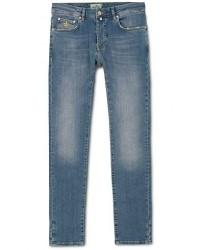 Morris Steeve Vintage Stretch Jeans Old Blue men W30L34 Blå