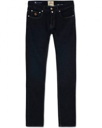 Morris Steve Satin Jeans Dark Blue men W36L34 Blå