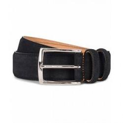 Morris Suede 3,5 cm Belt Dark Blue