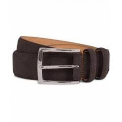 Morris Suede 3,5 cm Belt Dark Brown
