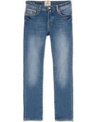 Morris Triumph Slim Fit Stretch Jeans Mid Blue men W34L34 Blå