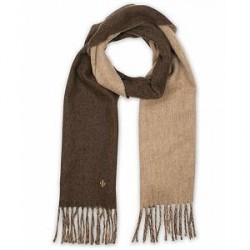 Morris Wool Doublefaced Scarf Brown/Beige