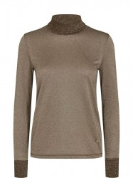 Mos Mosh - Casio Roll-neck Tee LS - Chocolate Chip